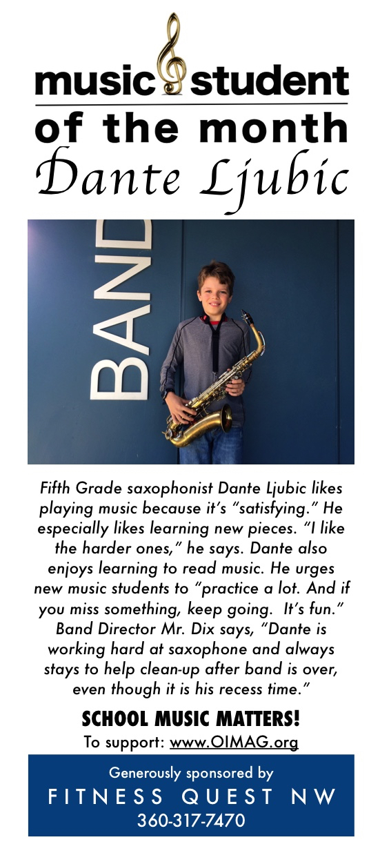 Music student of the month ad Nov 2017