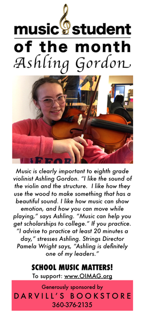 Music student of the month ad Dec 2017