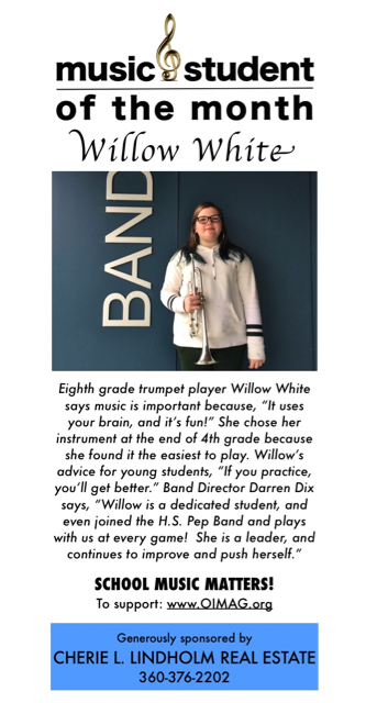 Music student of the month ad Jan 2018