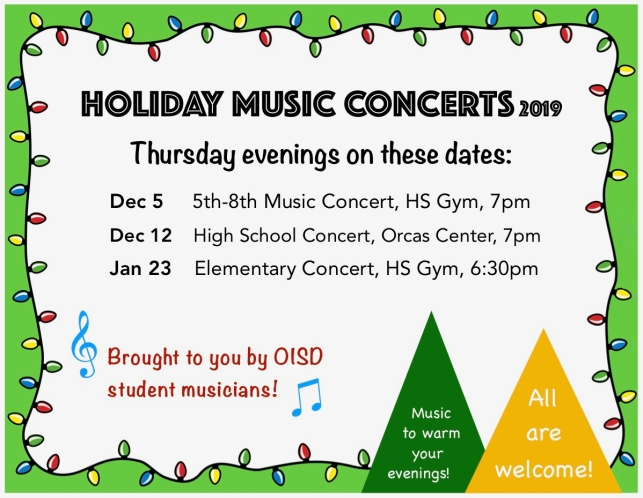 Holiday Music Concerts 2019